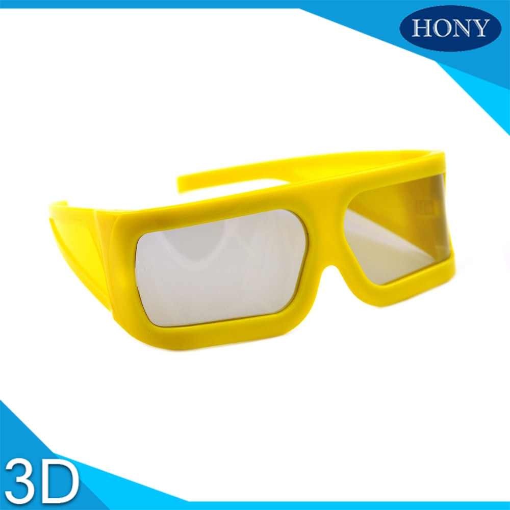 Big Yellow Frame 3D Glasses Hony3ds